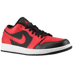 149a54ae1a3ac Jordan AJ1 Low - Men s - Basketball - Shoes - Black Gym Red White