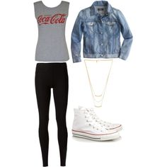 Coca cola by mkd1111 on Polyvore featuring polyvore, fashion, style, J.Crew, Rick Owens Lilies, Converse and Gorjana