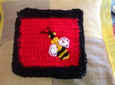 Bee by Suzanne L. www.knit-a-square.com
