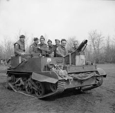 Men of the 2/7th Middlesex Regiment in one of their machine gun carriers at Anzio, 21 February 1944
