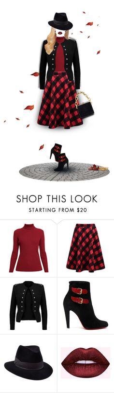 """226. Military Fall Chic"" by milva-bg ❤ liked on Polyvore featuring Rumour London, Christian Louboutin, Penmayne of London and Bloomingdale's"