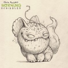 Chris Ryniak's Adorably Cute Monster Drawings