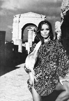 Veruschka modelling Yves Saint Laurent 1960ς