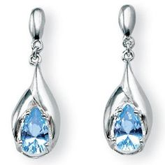 PalmBeach Jewelry Blue Topaz Earrings