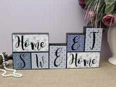 Home Sweet Home Wood Blocks Mantle Decor Wooden Letter Home Architecture Styles, Wood Blocks, Letter Blocks, Home Improvement Tv Show, Wooden Letters, Sign Letters, Trendy Home, Block Lettering, Wooden Crafts