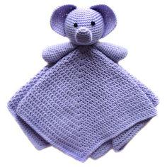 Elephant Security Blanket - PDF Crochet Pattern - Instant Download