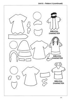 Image Detail for - Pattern: Biblical Characters (2 men, 1 Woman). Patterns can be used as