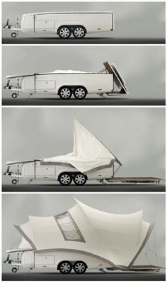 tachyonair:  Act II: Debut of the Sydney Opera-Inspired Camper-Trailer | Designs  Ideas on Dornob