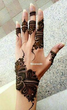 Latest Stylish Mehndi Designs for Weddings & Parties 2019 Back Hand Mehndi Designs, Mehndi Designs 2018, Stylish Mehndi Designs, Mehndi Design Pictures, Arabic Mehndi Designs, Beautiful Mehndi Design, Mehndi Images, Mehndi Desighn, Et Tattoo