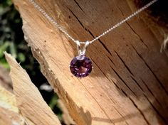 Alexandrite and Silver Necklace. #bridesmaidsgifts #colorchange #abishjewelryworks
