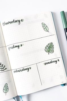 Chaning up your bullet journal one last time for summer? Check out the best August weekly spread ideas to give your bujo some warm weather personality! Bullet Journal Banner, Bullet Journal Spread, Bullet Journal Layout, Bullet Journal Inspiration, Bullet Journals, Journal Ideas, Bullet Journal Examples, Bullet Journal Essentials, Calendar Notebook