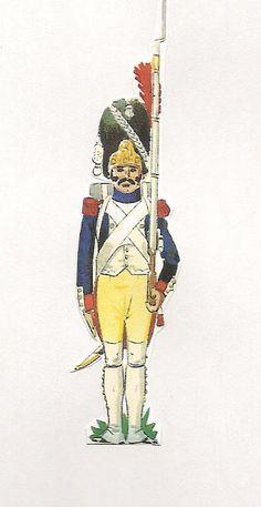 Regimiento de Granaderos de la Guardia de Jose Bonaparte. España 1809