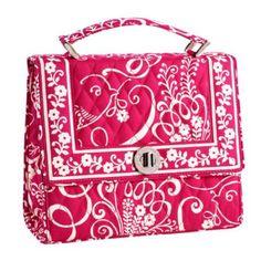Vera Bradley Julia Handbag in Twirly Birds Pink