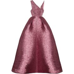 Alex Perry     Cassius Lurex Asymmetrical Bodice  Pleat Gown (9,335 SAR) ❤ liked on Polyvore featuring dresses, gowns, gown, fitted tops, purple gown, full length dresses, asymmetrical gown and purple ball gowns