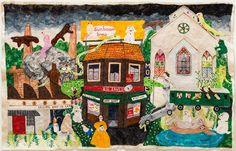 Artist Michaela Younge's NSFW felt tableaux Collage Sculpture, Felt, Tapestry, Colours, Fine Art, Artist, Painting, Hanging Tapestry, Felting