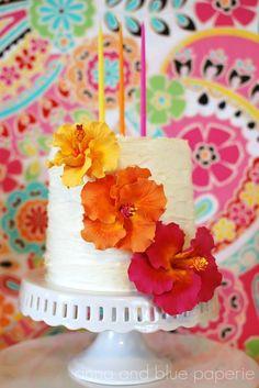 Luau cake- I think I'm getting too into this!  For @Julie Forrest Forrest Forrest Forrest Forrest Fenton