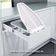 Strijkplank om in te bouwen in een kast of lade. - kast-inrichting.nl €169