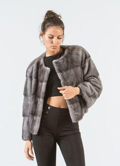 Blue Iris Mink Fur Short Jacket #blueiris #mink #fur #jacket #real #style #realfur #elegant #haute #luxury #chic #outfit #women #classy #online #store