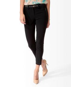 Perma-Creased Trousers w/ Belt #editorslist #glamourmag