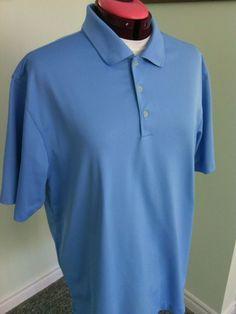 Nike Men's Blue Polo Shirt Size L Performance Top Lightweight Fit Sports Tour t | eBay