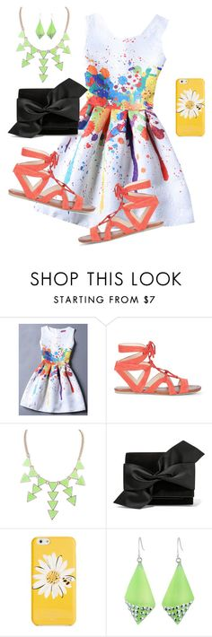 """""""Pop of color"""" by frozensunset on Polyvore featuring Sole Society, Victoria Beckham, Kate Spade and Alexis Bittar"""