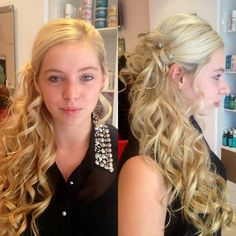 Chelsea has just styled Amy's hair ready for a ball! Call 01926 491507 to book a hair up with Chelsea.