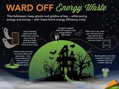 Energy Efficiency Tricks to Stop Your Energy Bill from Haunting You ✦ This Halloween, keep ghosts and goblins at bay -- while saving energy and money -- with these home energy efficiency tricks. Energy Bill, New Energy, Save Energy, Energy Efficient Homes, Energy Efficiency, Homemade Generator, Power Bill, Energy Saving Tips, Energy Companies