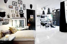 Racconti per immagini :: Un mini appartamento in bianco e nero