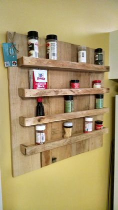 Wooden Spice Rack Wall Mount Best Solid Oak Spice Rack 5 Shelves Freestanding Or Wall Mounted Kitchen