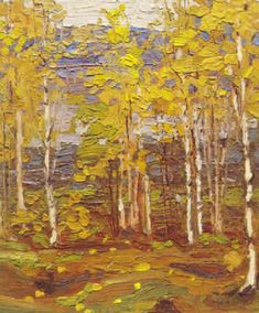 View Algonquin October by Tom Thomson on artnet. Browse upcoming and past auction lots by Tom Thomson. Canadian Painters, Canadian Artists, Landscape Artwork, Abstract Landscape, Tom Thomson Paintings, Nature Artists, Ontario, Figure Painting, Emily Carr