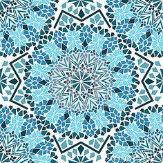 Modèle sans couture de mosaïque marocaine                                                                                                                                                                                 Plus