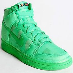 Nike Neon Dunk High Nylon Sneakers