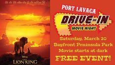 #portlavaca #portlavacatx #portlavacatexas #driveinmovie #bayfrontpeninsula #lionking #freeevent Port Lavaca Texas, Dark Disney, Local Events, Calendar, Movies, Films, Cinema, Life Planner, Movie
