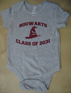 Harry Potter Inspired Hogwarts Class of 2031 Onesie by pwnagewear, $15.00