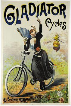 Gladiator Cycles Original Vintage Bicycle Poster