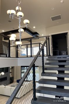 Home Stairs Design, Home Room Design, Dream Home Design, Modern House Design, Home Interior Design, Modern Staircase Railing, Railings, Banisters, House Stairs