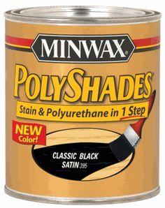 Black Polyshades Satin Wood Stain