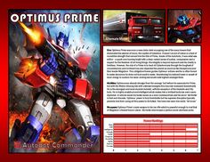 Optimus Prime by CitizenPayne on DeviantArt