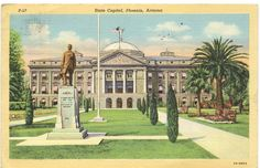 Amazon.com : 1940s Vintage Postcard - State Capitol Building - Phoenix Arizona : Blank Postcards : Office Products