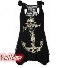 2017 new summer style skull and head digital print leisure suspender vest with a top top vest S-5XL