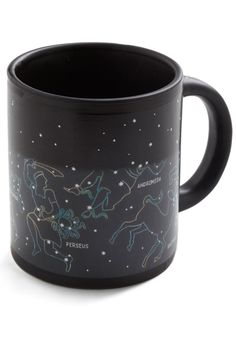 Starry sky and Greek constellations mug, images appear when heated - $15