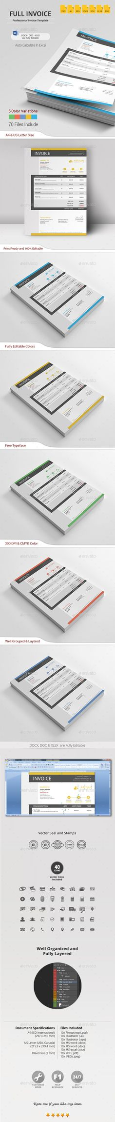 Invoice Psd Templates, Photoshop and Bill Ou0027brien - print an invoice