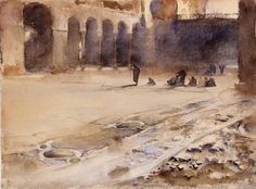 John Singer Sargent (1856-1925) Pavement of San Marco, Venice (before 1901) watercolor on paper 10 x 14 in.