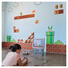 Atl Vinyl Wall Stickers Super Mario Brothers Wall Stickers - Pricefalls.com