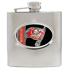 NFL Tampa Bay Bunccaneers 6oz Stainless Steel Hip Flask by Great American Products. Save 25 Off!. $22.41. Handcrafted  high-quality metal logo. Proudly displays hand-crafted metal emblem featuring the Team Logo.. High quality collectible design. Officially Licensed flask decorated in team colors.