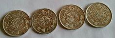 4 Silbermünzen 4 x1 Riyal Silber Saudi Arabien 1354 -1367-1370-1374.900 Silbersparen25.com , sparen25.de , sparen25.info