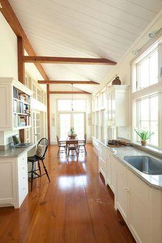 Raised ceiling in kitchen