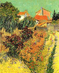 Vincent Van Gogh. Garden Behind a House (1888).