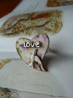 Heart 'love' ring £5.00