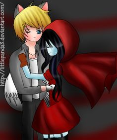 Red Riding Hood and The Wolf- Finnceline by Kydonik on DeviantArt Adventure Time Cartoon, Adventure Time Finn, Finn And Marceline, Prince Gumball, Feliz Halloween, Wolf, Max And Chloe, Eddsworld Comics, Vampire Queen